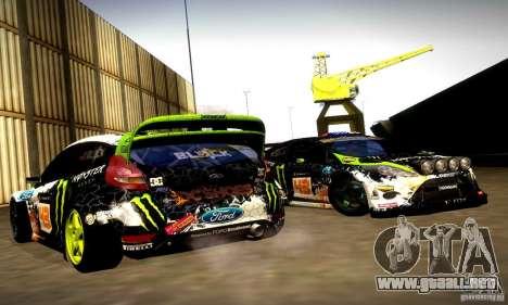 Ford Fiesta Gymkhana 5 para vista lateral GTA San Andreas