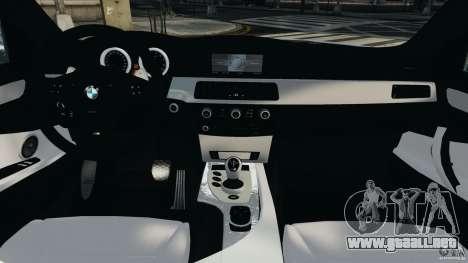 BMW M5 E60 2009 v2.0 para GTA 4 vista hacia atrás