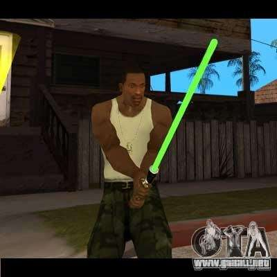 Sable de luz de STAR WARS para GTA San Andreas