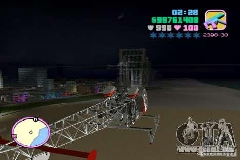 Bell 47 para GTA Vice City vista lateral izquierdo