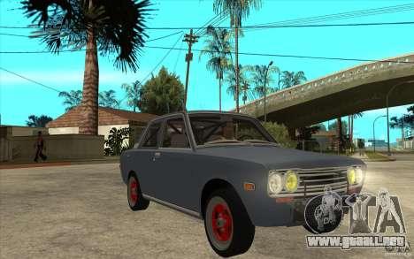 Datsun 510 JDM Style para GTA San Andreas vista hacia atrás