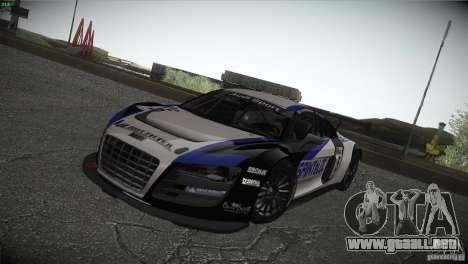 Audi R8 LMS para la vista superior GTA San Andreas