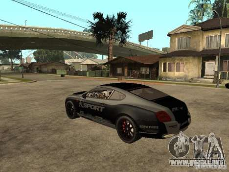 Bentley Continental SS Skin 4 para GTA San Andreas left