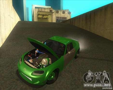Mazda Miata MX-5 Konguard 2007 para visión interna GTA San Andreas