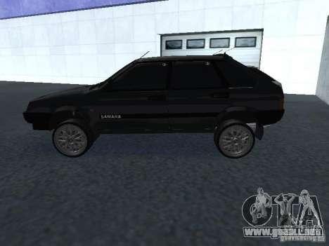 VAZ 2109 sintonizable para GTA San Andreas vista hacia atrás