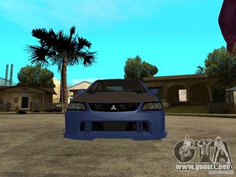 Mitsubishi Lancer EVO VIII Tuned para la visión correcta GTA San Andreas
