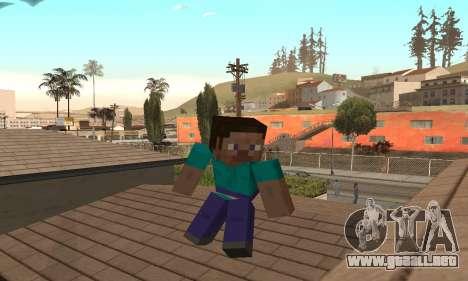 Steve de la piel de Minecraft juego para GTA San Andreas