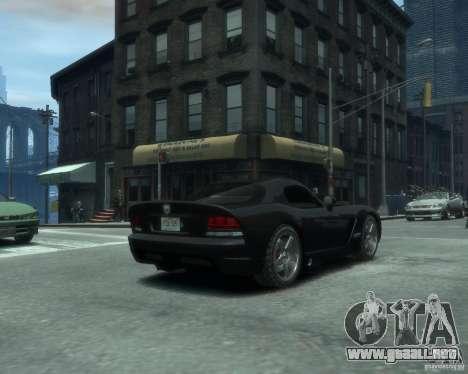 Dodge Viper srt-10 Coupe para GTA 4 Vista posterior izquierda