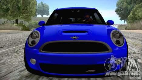 MINI Cooper Clubman JCW 2011 para GTA San Andreas vista hacia atrás