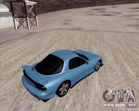 Mazda RX7 2002 FD3S SPIRIT-R (Type RS) para la visión correcta GTA San Andreas