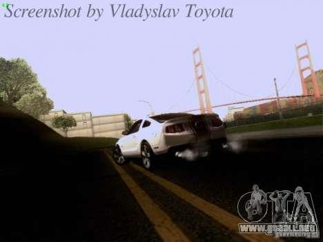 Ford Mustang GT 2011 para la vista superior GTA San Andreas