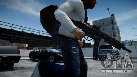 MP5 (CoD: Modern Warfare 3) para GTA 4 adelante de pantalla