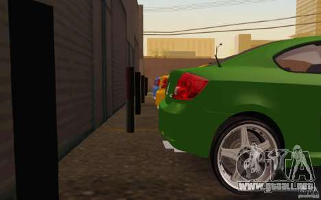 Scion tC para visión interna GTA San Andreas