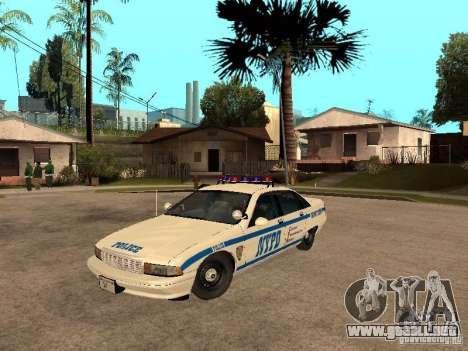 NYPD Chevrolet Caprice Marked Cruiser para GTA San Andreas