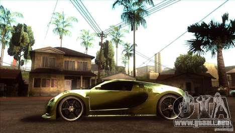 Bugatti Veyron Life Speed para GTA San Andreas left