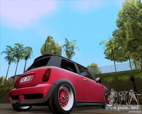 Mini Cooper S Euro para GTA San Andreas left