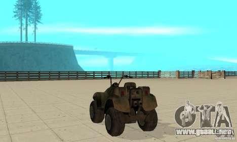 ATV de TimeShift para GTA San Andreas vista posterior izquierda