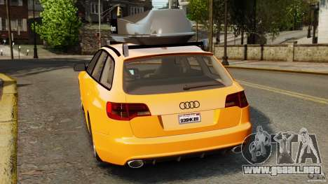 Audi A6 Avant Stanced 2012 v2.0 para GTA 4 Vista posterior izquierda