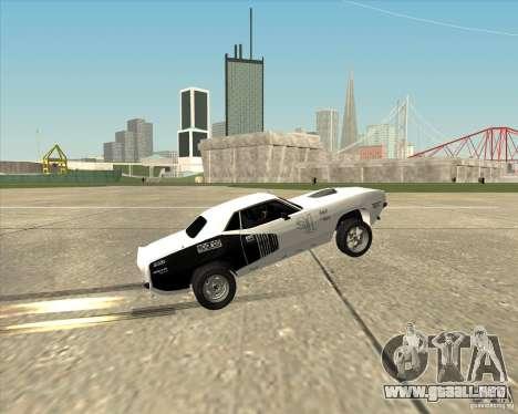Plymouth Hemi Cuda Rogue para visión interna GTA San Andreas