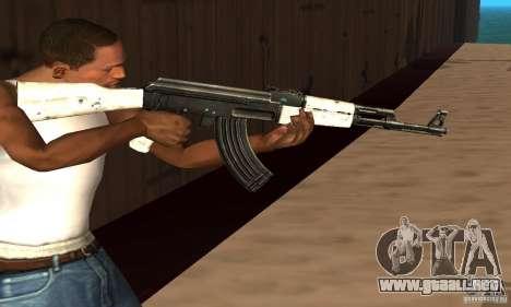 AK47 de nieve (nieve Ak47) para GTA San Andreas tercera pantalla