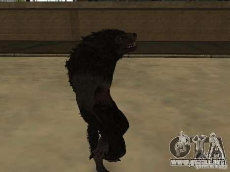 Werewolf from The Elder Scrolls 5 para GTA San Andreas segunda pantalla