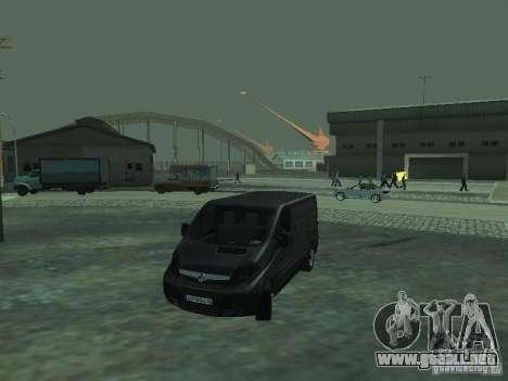 Vauxhall Vivaro v0.1 para vista inferior GTA San Andreas