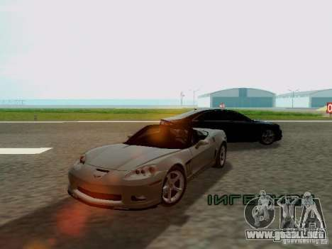 Chevrolet Corvette C6 GS Convertible 2012 para GTA San Andreas left