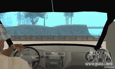 Mitsubishi Galant para visión interna GTA San Andreas