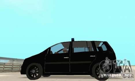 Volkswagen Touran 2006 Police para la visión correcta GTA San Andreas