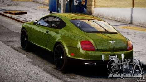 Bentley Continental SS 2010 Suitcase Croco [EPM] para GTA 4 Vista posterior izquierda