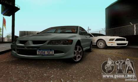 Mitsubishi Lancer Evolution 8 Tuneable para GTA San Andreas left