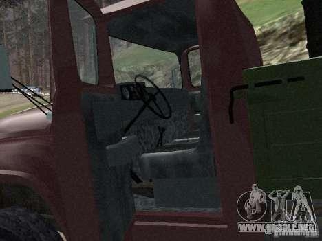 ZIL 130 a bordo para GTA San Andreas vista hacia atrás
