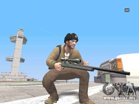 HQ Weapons pack V2.0 para GTA San Andreas quinta pantalla