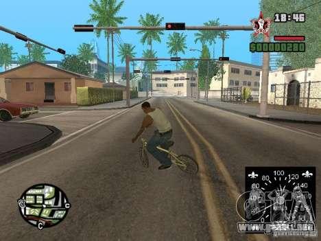 Nuevo velocímetro para GTA San Andreas quinta pantalla