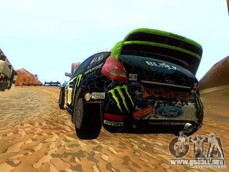 Ford Fiesta RS WRC 2012 para GTA San Andreas vista posterior izquierda