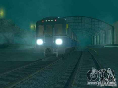 Metro e para GTA San Andreas vista posterior izquierda