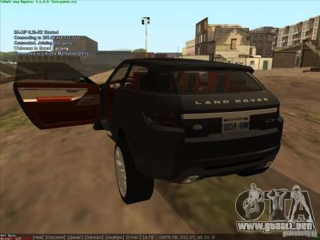 Land Rover Freelander para GTA San Andreas vista posterior izquierda
