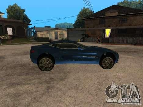 Aston Martin One77 para GTA San Andreas left