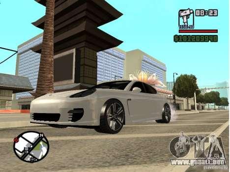 Porshe Panamera para GTA San Andreas left