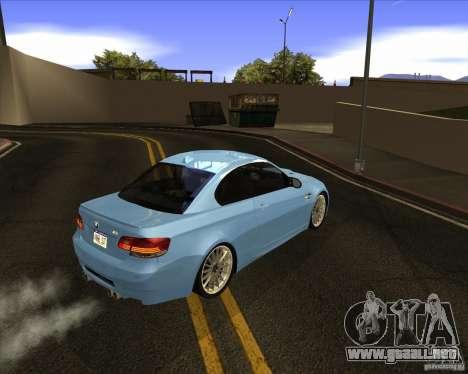 BMW M3 Convertible 2008 para la visión correcta GTA San Andreas