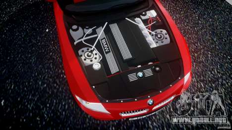BMW Z4 Roadster 2007 i3.0 Final para GTA 4 vista hacia atrás