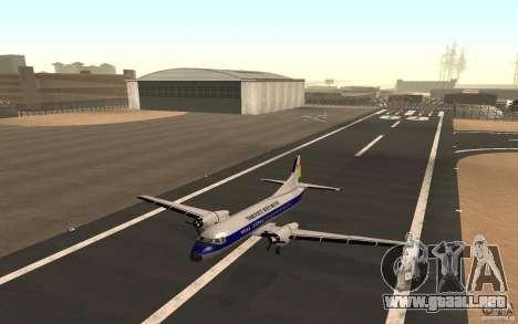 YS-11 para GTA San Andreas vista posterior izquierda