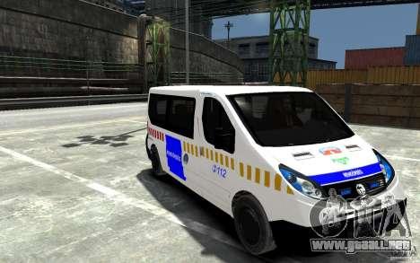 Opel Vivaro Hungarian Police Van para GTA 4 vista hacia atrás