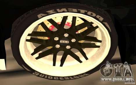 Mitsubishi Lancer Evolution X Monster Energy para vista inferior GTA San Andreas