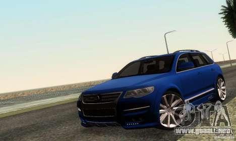 VolksWagen Touareg R50 JE Design Tuning para GTA San Andreas left