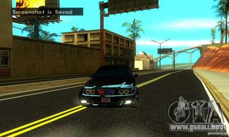 BMW M5 E39 2003 para GTA San Andreas vista hacia atrás