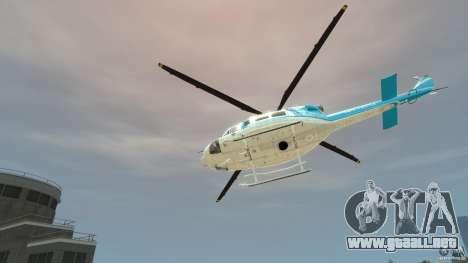 NYPD Bell 412 EP para GTA 4 vista hacia atrás
