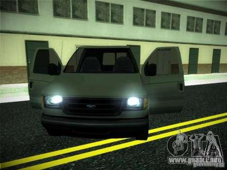 Ford E150 2000 para visión interna GTA San Andreas