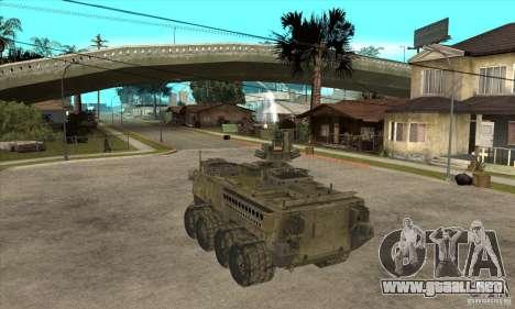 Stryker CDMW2 para GTA San Andreas vista posterior izquierda