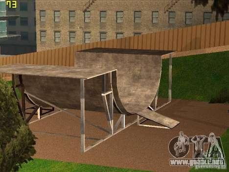 New SkatePark v2 para GTA San Andreas tercera pantalla
